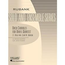 Rubank Publications Bach Chorales for Brass Quartet (Grade 2) Rubank Solo/Ensemble Sheet Series Book