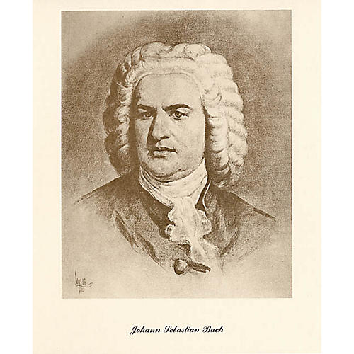 Music Sales Bach (Lupas Small Portrait Poster) Music Sales America Series
