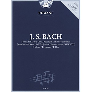 Dowani Editions Bach: Sonata for Treble Alto Recorder and Basso Continuo ... by Dowani Editions