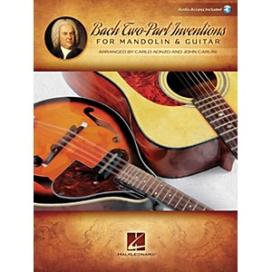 Hal Leonard Bach Two-Part Inventions for Mandolin and Guitar Fretted Series S...