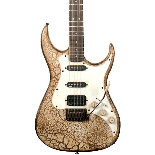 AXL Badwater SRO Electric Guitar Crackle Brown/White