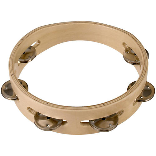 Sound Percussion Labs Baja Percussion Single Row Headless Tambourine with Steel Jingles-thumbnail