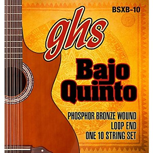 GHS Bajo Quinto 10 String Phosphor Bronze Acoustic Guitar Strings by GHS