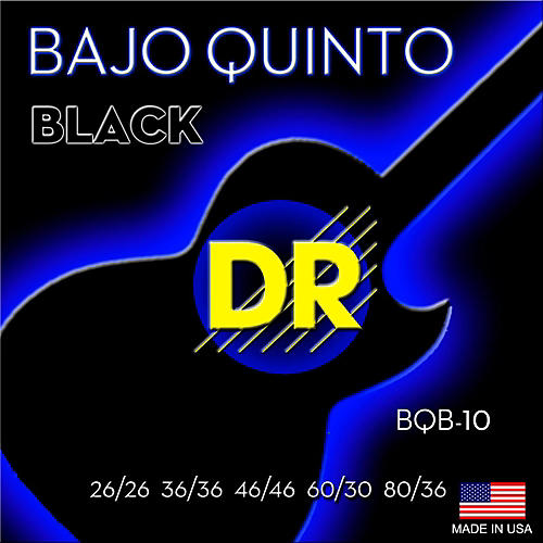 DR Strings Bajo Quinto Black Coated 10 String-thumbnail