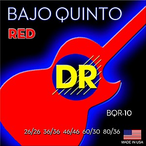 DR Strings Bajo Quinto Red Coated 10 String by DR Strings