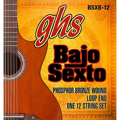 GHS Bajo Sexto 12-String Phosphor Bronze Acoustic Guitar Strings-thumbnail