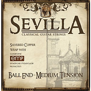 Sevilla Classical Guitar Strings Ball End EMP-Coated Classical Guitar Strin...