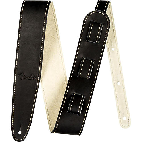 Fender Ball Glove Leather Guitar Strap Black
