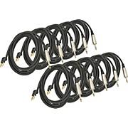 "Musician's Gear Banana-1/4"" Speaker Cable 14 Gauge 10' 10-Pack"