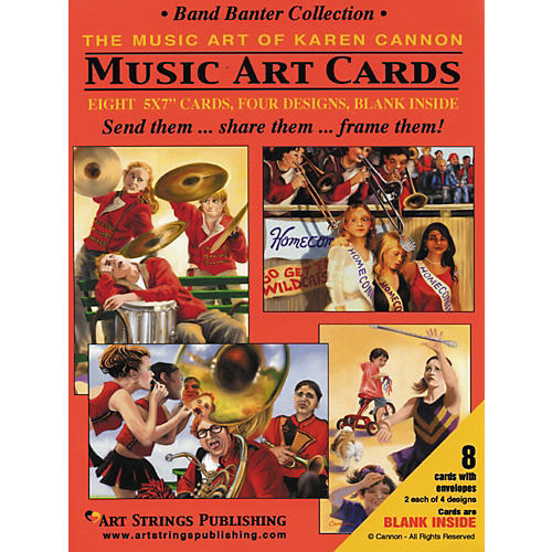 Art Strings Band Banter Greeting Cards Collection 8-Pack-thumbnail