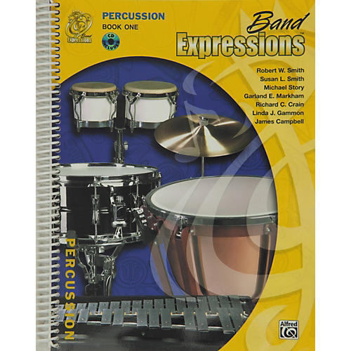 Alfred Band Expressions Book One Student Edition Percussion Book & CD-thumbnail