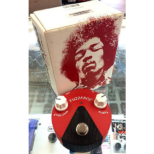 Dunlop Band Of Gypsys Fuzz Face Mini Flat Red Effect Pedal-thumbnail