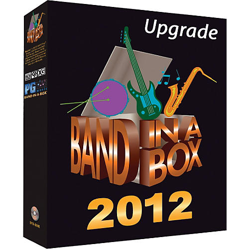 PG Music Band-in-a-Box 2012 MEGAPAK Upgrade (from 2011)