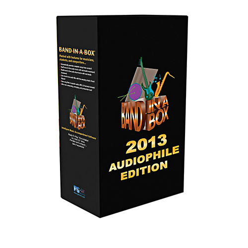 PG Music Band-in-a-Box 2013 Audiophile Edition (Win-Portable Hard Drive)