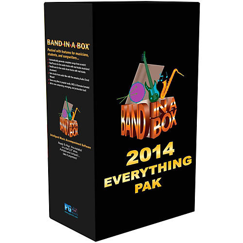 PG Music Band-in-a-Box 2014 EverythingPAK (Win-Portable Hard Drive)