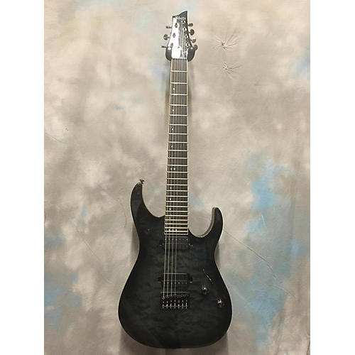 Schecter Guitar Research Banshee 7 Passive Solid Body Electric Guitar Trans Black