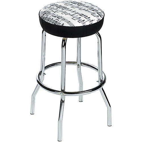 Aim Bar Stool Sheet Music White With Black Notes Guitar