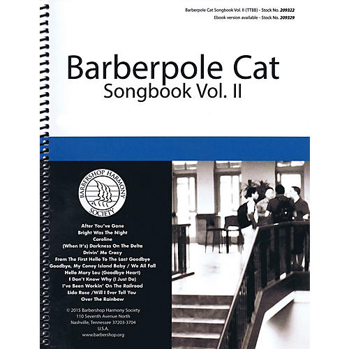 Barbershop Harmony Society Barberpole Cat Songbook (Volume 2) TTBB A Cappella arranged by Various