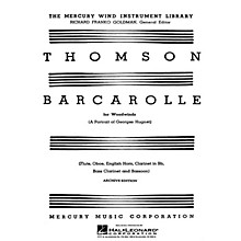G. Schirmer Barcarolle (A Portrait of Georges Hugnet) (Score and Parts) Woodwind Ensemble Series by Virgil Thomson