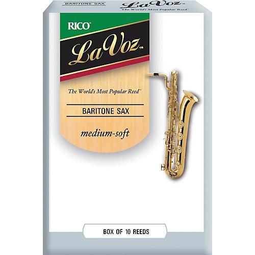 La Voz Baritone Saxophone Reeds Medium Soft Box of 10