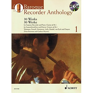 Schott Baroque Recorder Anthology - Vol. 1 Woodwind Series Softcover with C...