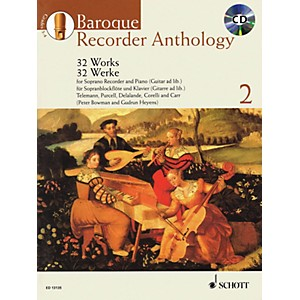Schott Baroque Recorder Anthology - Volume 2 Woodwind Series Softcover with...
