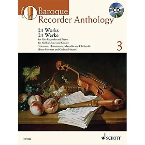 Schott Baroque Recorder Anthology - Volume 3 Schott Softcover with CD by V... by Schott