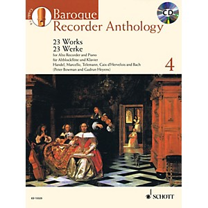 Schott Baroque Recorder Anthology, Vol. 4 Schott Softcover with CD by Vari... by Schott
