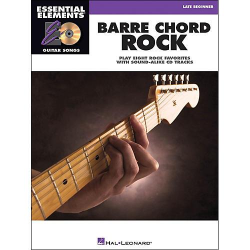 Hal Leonard Barre Chord Rock Essential Elements Guitar Songs Book/CD Late Beginner-thumbnail