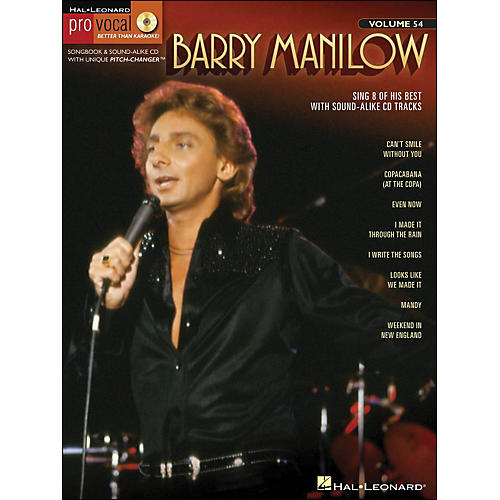Hal Leonard Barry Manilow - Pro Vocal Songbook & CD for Male Singers Volume 54-thumbnail