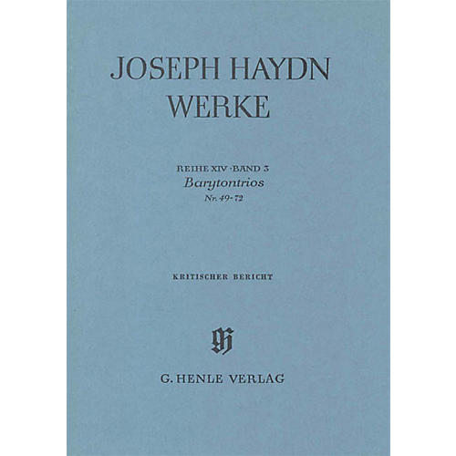 G. Henle Verlag Barytone Trios No. 49-72 Henle Edition Series Hardcover