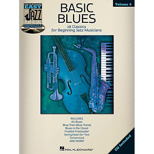 Hal Leonard Basic Blues - Easy Jazz Play-Along Vol. 4 Book/CD