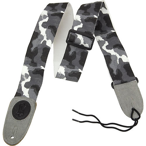 Levy's Basic Cotton Signature Series Guitar Strap with Suede Ends Arctic Camouflauge