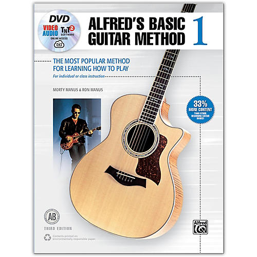 Alfred Basic Guitar Method 1, 3rd Edition Book, DVD, Online Audio, Video and Software-thumbnail
