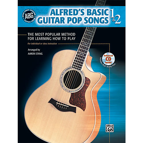 Alfred Basic Guitar Pop Songs 1 and 2 (Book/CD)-thumbnail