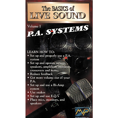 MVP Basics of Live Sound Volume 1 - PA Systems (VHS)-thumbnail