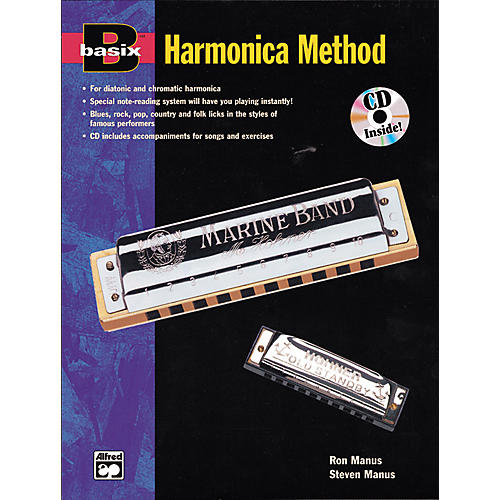 Alfred Basix Harmonica Method Book w/CD