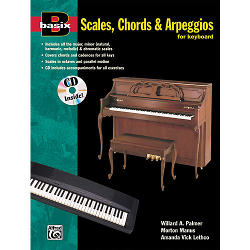 Alfred Basix Scales Chords & Arpeggios for Keyboard (Book/CD)-thumbnail
