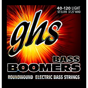 GHS Bass Boomers 5 String Roundwound Bass Strings 40-120 by GHS