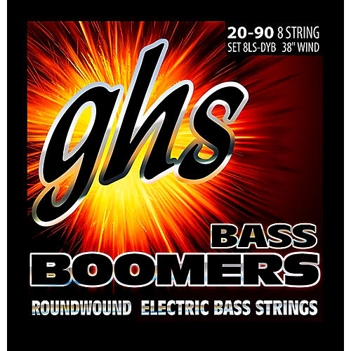 GHS Bass Boomers 8-String Roundwound Bass Strings (40-90) with Octave Strings-thumbnail
