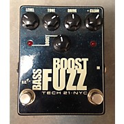 Tech 21 Bass Boost Fuzz Metallic Bass Effect Pedal