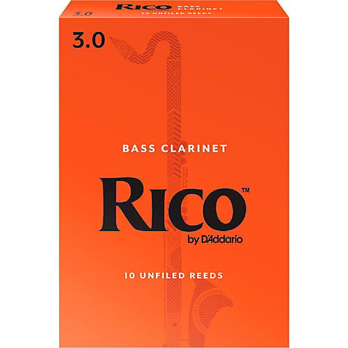 Rico Bass Clarinet Reeds, Box of 10-thumbnail