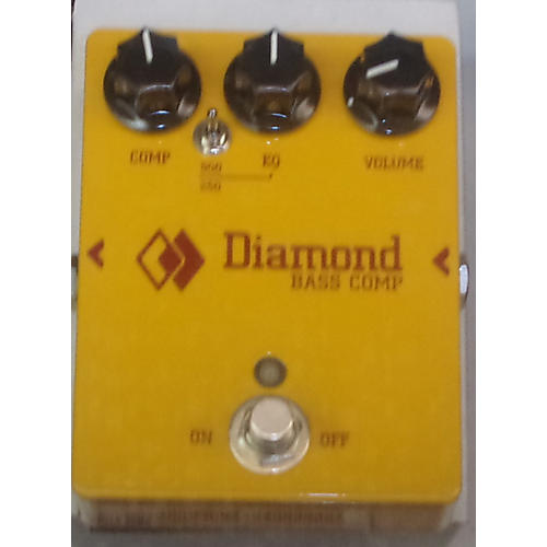 DIAMOND PEDALS Bass Comp Yellow Effect Pedal-thumbnail