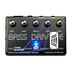 Carl Martin Bass Drive Tube Pre Amp Bass Effects Pedal