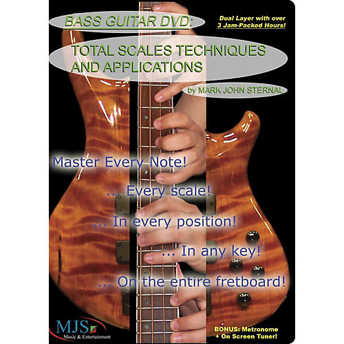 mjs music publications bass guitar dvd total scales techniques and applications guitar center. Black Bedroom Furniture Sets. Home Design Ideas