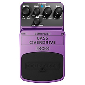 behringer bass overdrive bod400 bass effects pedal guitar center. Black Bedroom Furniture Sets. Home Design Ideas