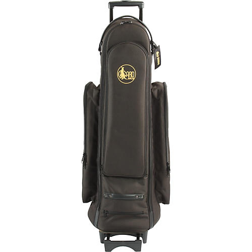Gard Bass Trombone Wheelie Bag 24-WBFSK Black Synthetic w/ Leather Trim