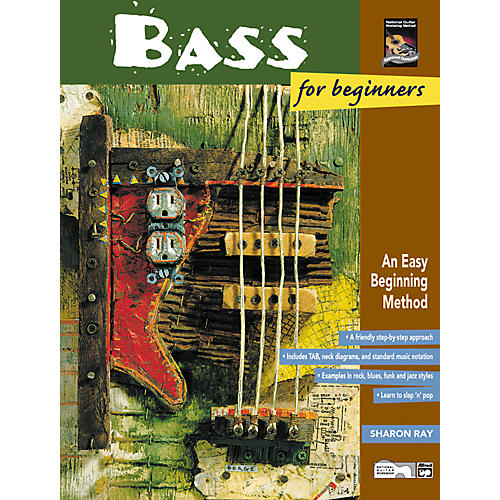 Alfred Bass for Beginners and Rock Bass for Beginners Book with DVD