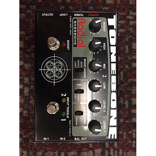 Radial Engineering Bassbone Bass Pre DI Bass Effect Pedal  0