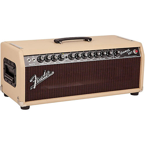 Fender Bassman 100T 100W Tube Bass Head Blonde/Oxblood